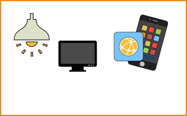 家電を遠隔操作するアプリ