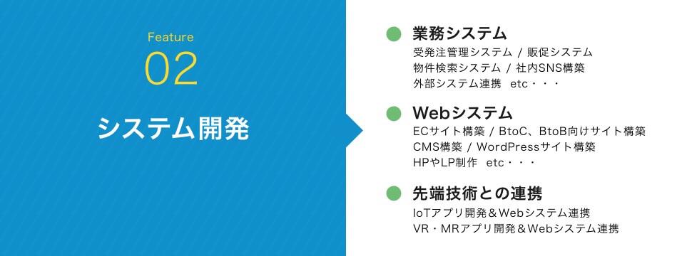 システム開発|業務システム/Webシステム/先端技術との連携